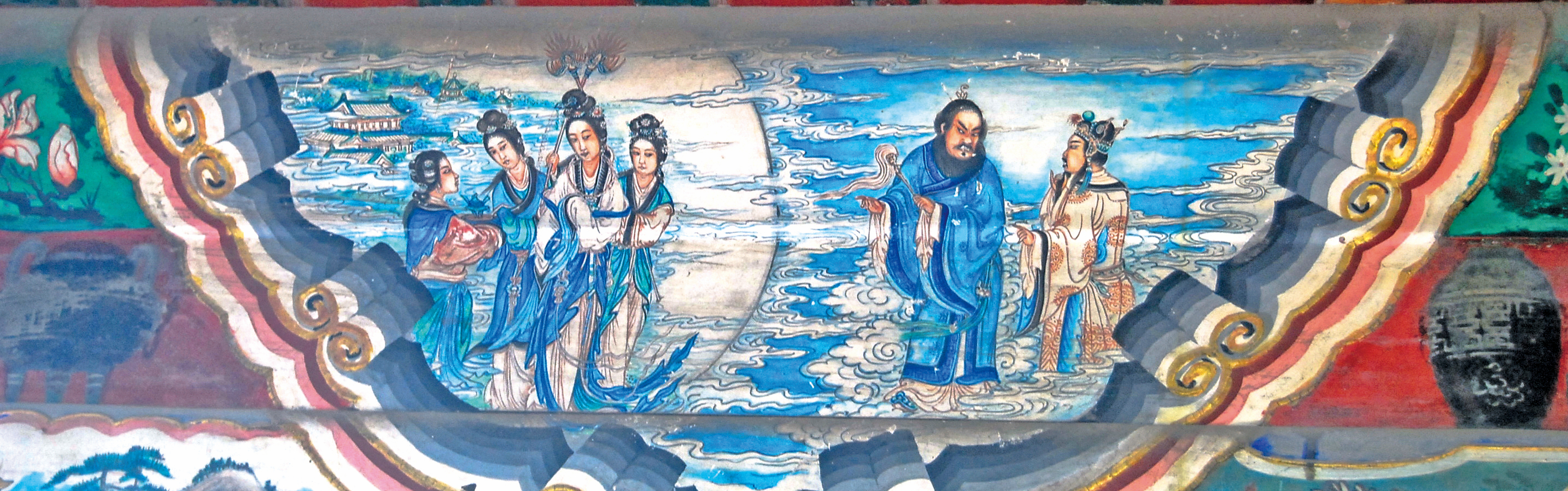 頤和園長廊彩繪:唐玄宗遊月宮。(Shizhao / 維基百科)