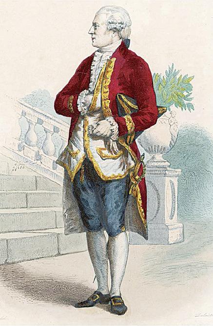 1780年的男性服裝。