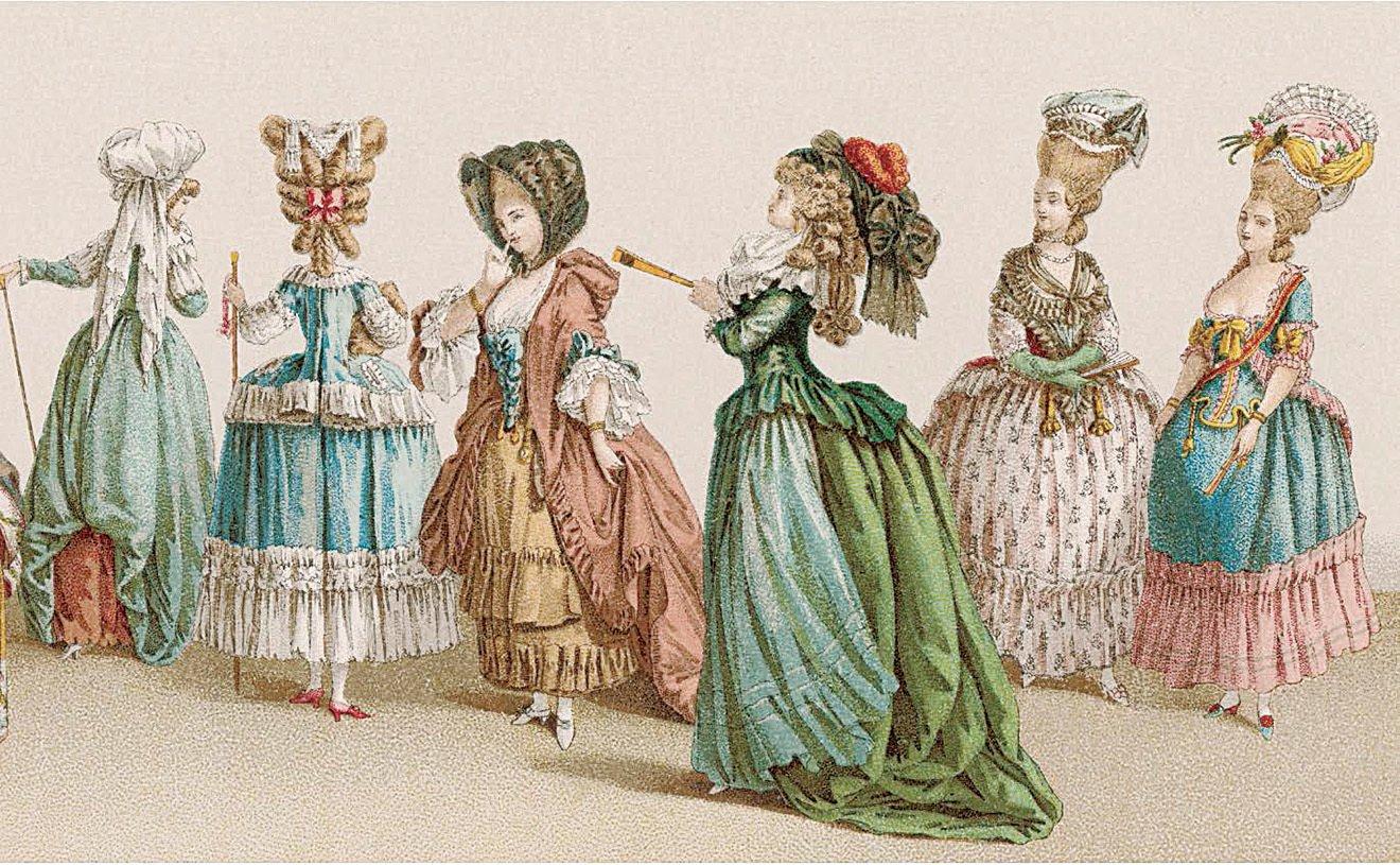 1780年的女性服裝。