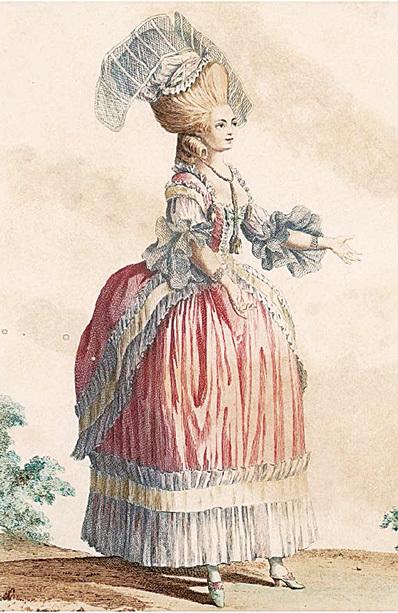 1778年的女性服裝。