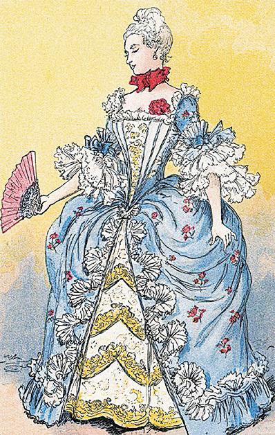 1760年的女性服裝。