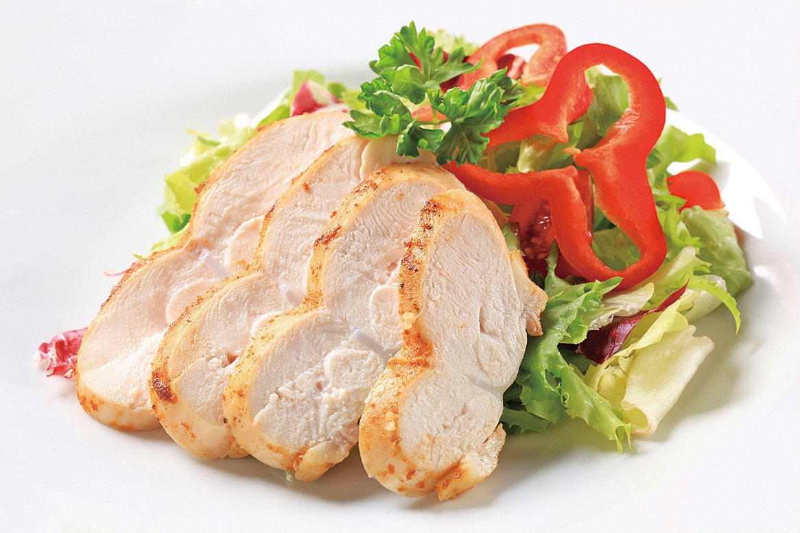 雞胸肉有優質的蛋白質,且脂肪含量低。