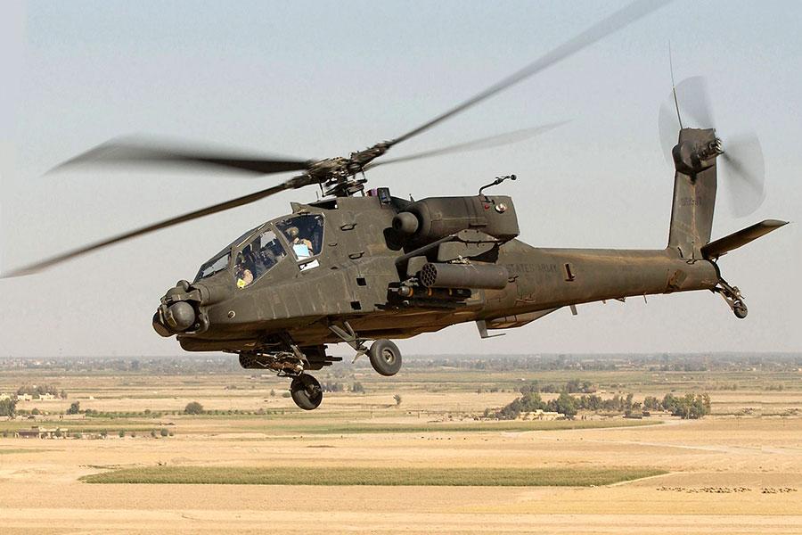 美國一架AH-64阿帕奇(Apache)直升機1月20日凌晨在加利福尼亞州墜毀,釀兩名士兵死亡。圖為AH-64阿帕奇直升機示意圖,並非出事直升機。(公有領域)