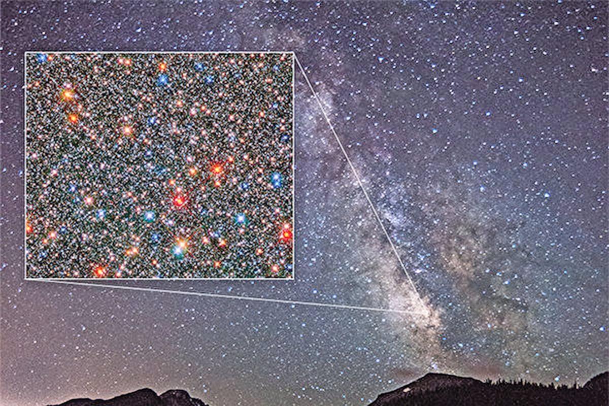 銀河系中心出現大量新星,其數量是古老星體的兩倍。(NASA/ESA)