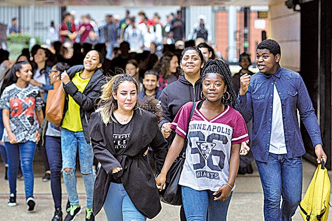 位於倫敦的Stoke Newington School中學。(Dan Kitwood/Getty Images)