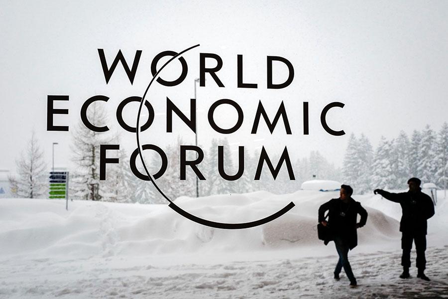 1月22日,世界經濟論壇(達沃斯論壇)2018年年會登場,美國總統將出席並發表演說。(FABRICE COFFRINI/AFP/Getty Images)