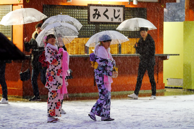 巧遇東京罕見大雪 台灣遊客開心興奮
