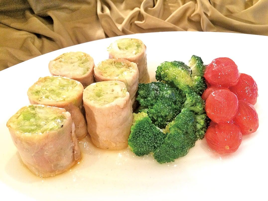椰菜肉卷。