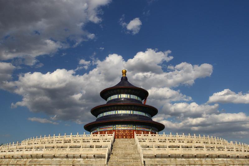 天壇是中國傳統文化中典型的祭天古建築。(Getty Images)