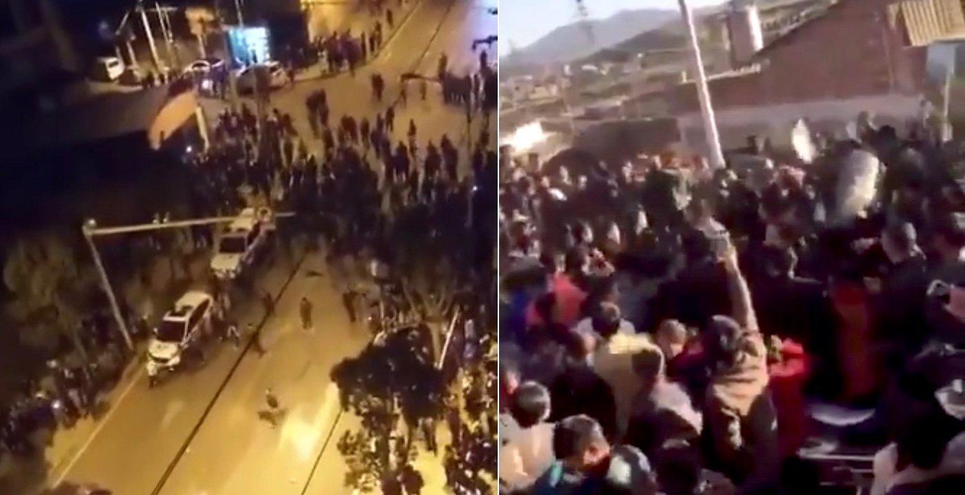 當地民眾拍攝的疑似衝突現場的視像,已被刪除。(視像擷圖)