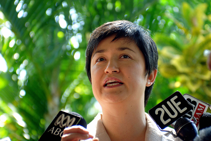 澳洲工黨影子外交事務發言人黃英賢(Penny Wong)。(AFP/Getty Images)