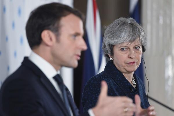 這是法國總統馬克龍上任後首次訪問英國(Stefan Rousseau – WPA Pool / Getty Images)