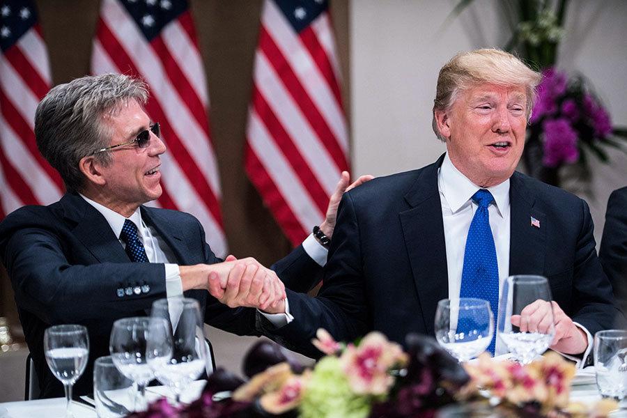 特朗普達沃斯舉辦晚宴 歐洲商界領袖讚減稅