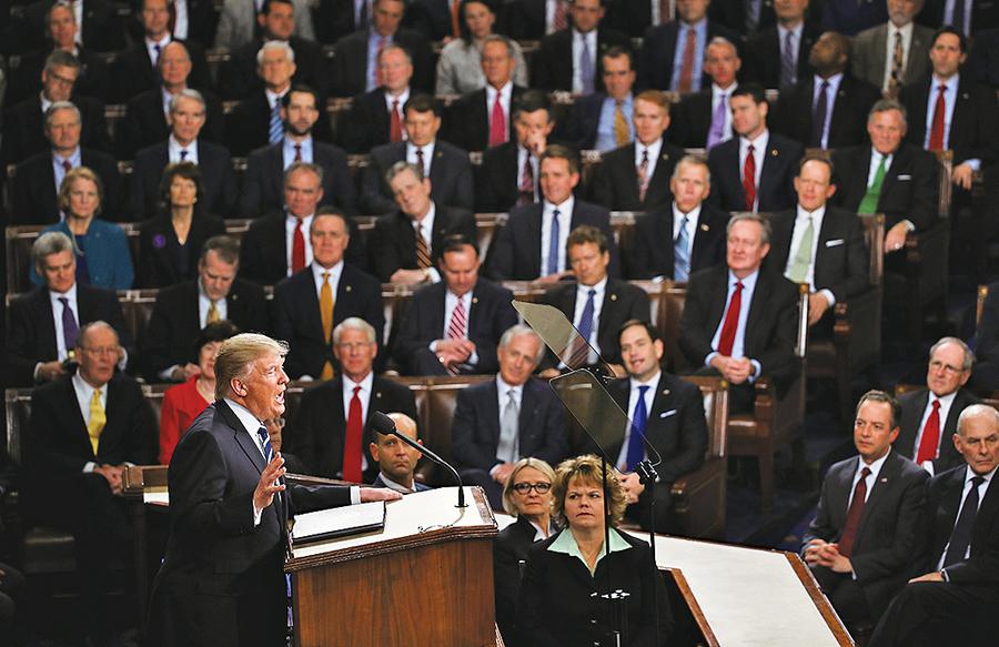 特朗普將發表首個國情咨文