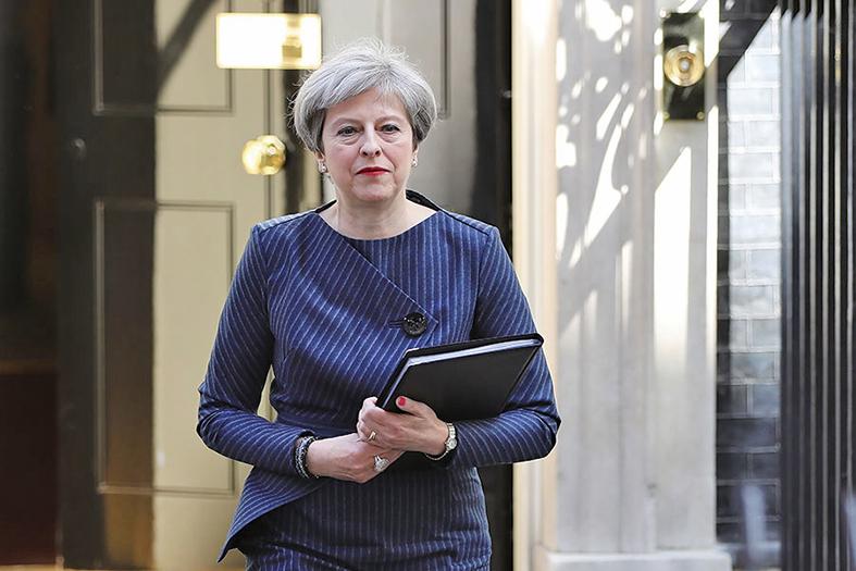 圖為英國首相文翠珊。(Getty Images)