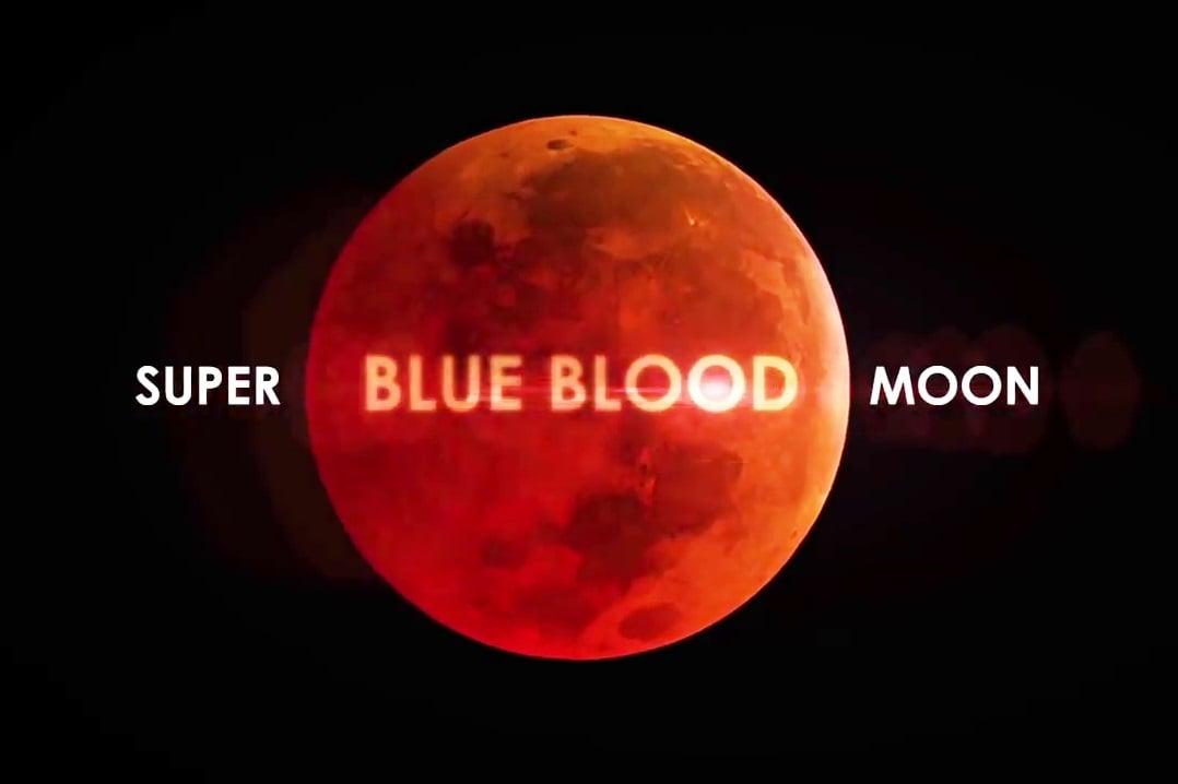 超級月亮在月食過程中變成紅色。(NASA視像擷圖)