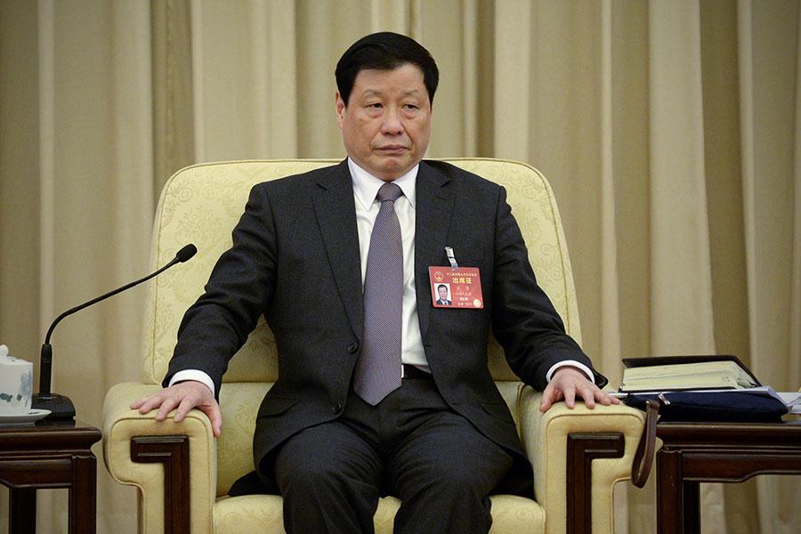 上海高層換屆,應勇連任市長。(WANG ZHAO/AFP/Getty Images)