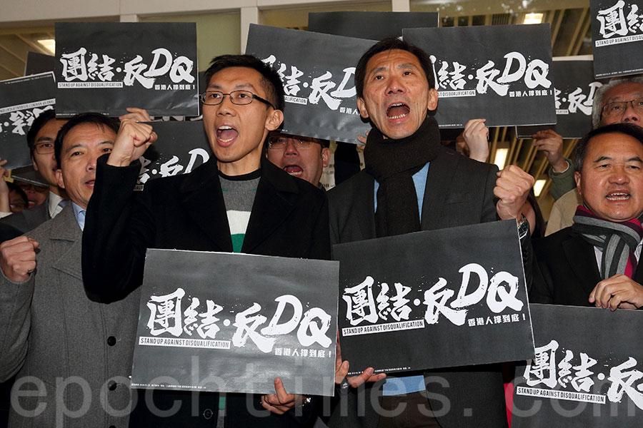 圖為姚松炎(右)及袁海文(左)。(李逸/大紀元)