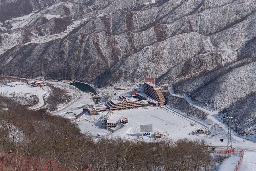 NBC因報道北韓馬息嶺滑雪場而招致批評。該滑雪場平時幾乎空無一人。(ED JONES/AFP/Getty Images)