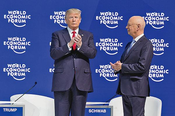 美國總統特朗普早前在世界經濟論壇上發表演說,再次強調美國不再作為中國(共)等掠奪貿易行為的受害者,有關言論引起熱議。(World Economic Forum)