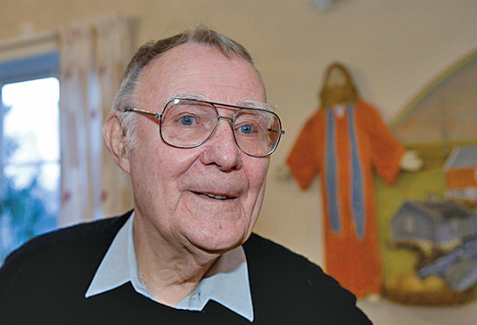 宜家創辦人坎普拉德被視為「20世紀中最偉大的企業家之一」。(AFP)