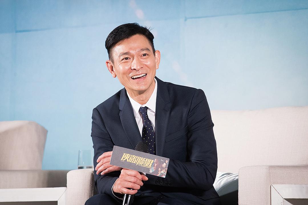 圖為劉德華去年8月10日在台北出席《俠盜聯盟》電影新聞發佈會。(陳柏州/大紀元)