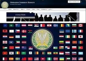 美反恐聯盟官網 再現青天白日滿地紅國旗
