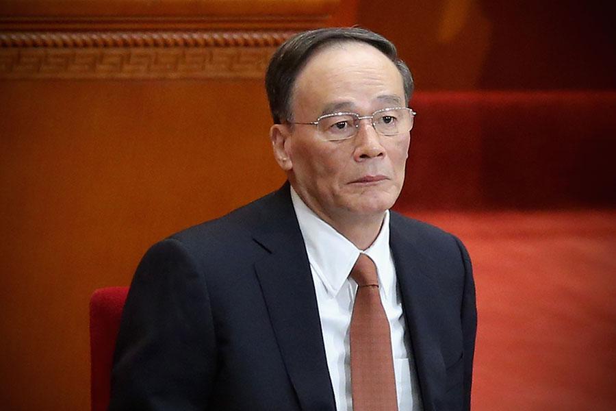 1月29日王岐山當選中共人大代表。外界認為,他很可能在3月被任命為中共副主席。(Feng Li/Getty Images)