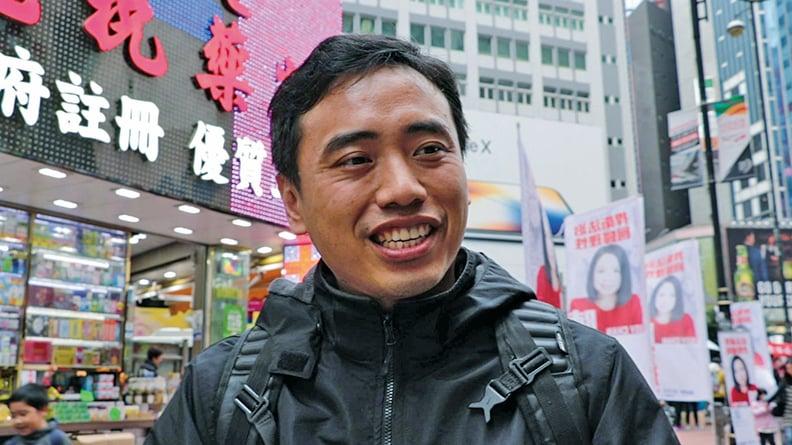 來自台灣的林先生表示支持法輪功,指青關會所為明顯是收錢來演。(大紀元資料圖片)