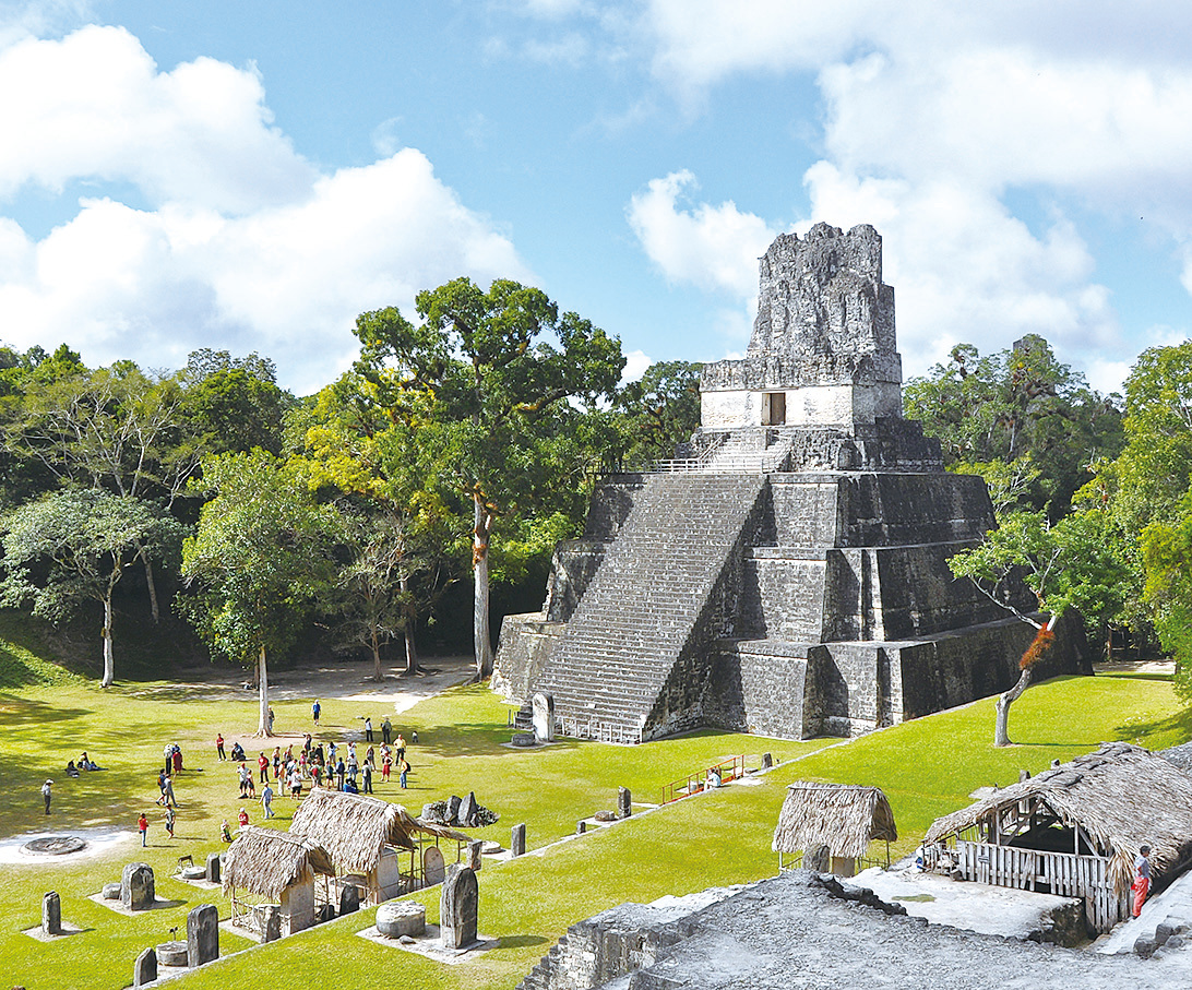 瑪雅文明的最大城市蒂卡爾(Tikal)。(維基百科)