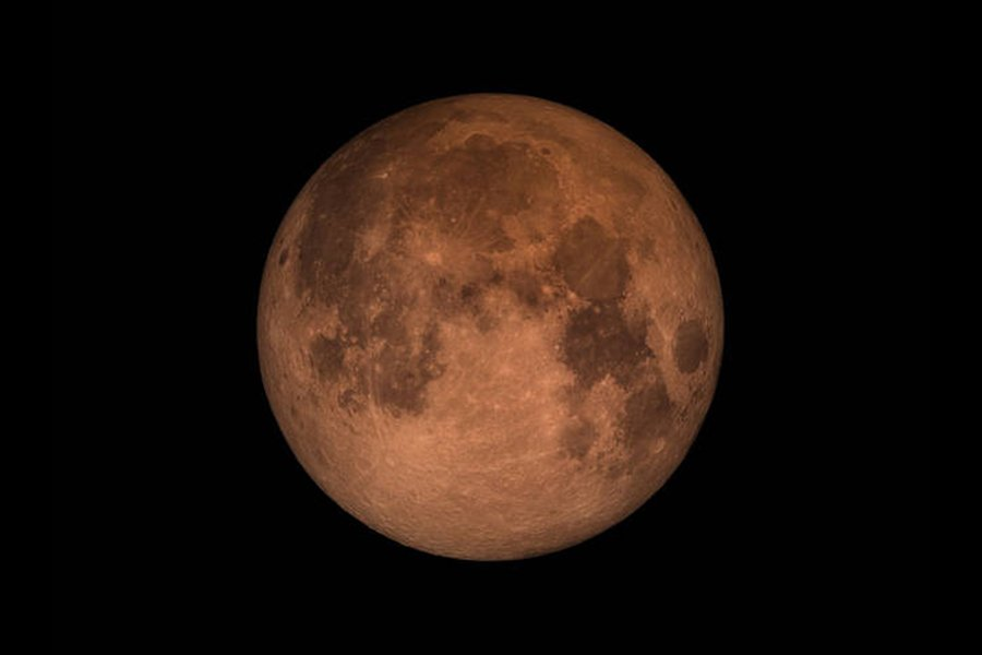 本港今晚上空將出現「超級藍血月」天文奇觀。(NASA)