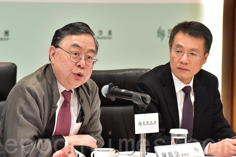 陳啟宗:未來五年 香港地產商主導市場