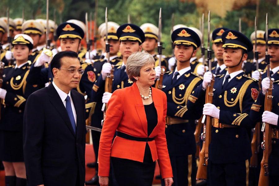 英首相訪華 承諾向習近平提兩個敏感問題