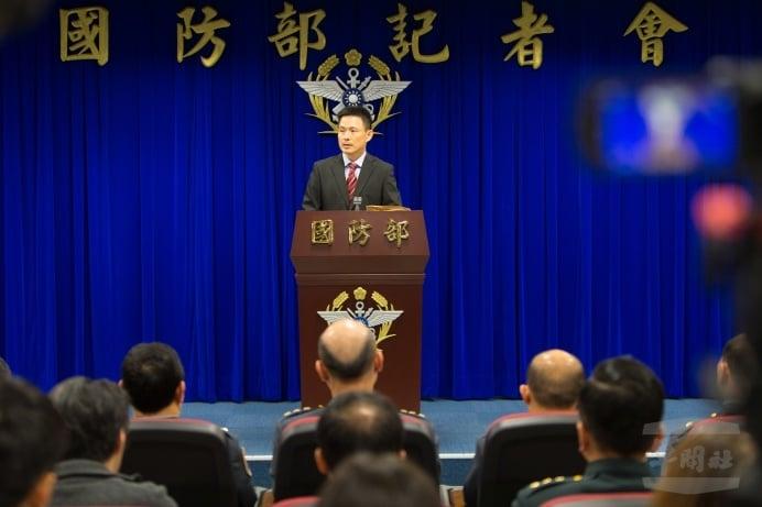 台灣國防大學政戰學院中共軍事事務研究所所長馬振坤12月26日在記者會中大力讚許國防報告書的深度、廣度及透明度。(國防部軍聞社)