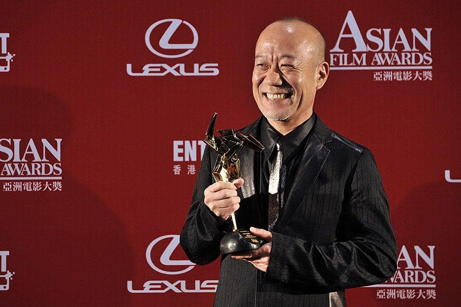 圖為2009年,日本配樂大師久石讓來港接受獎項。(Victor Fraile/Getty Images)