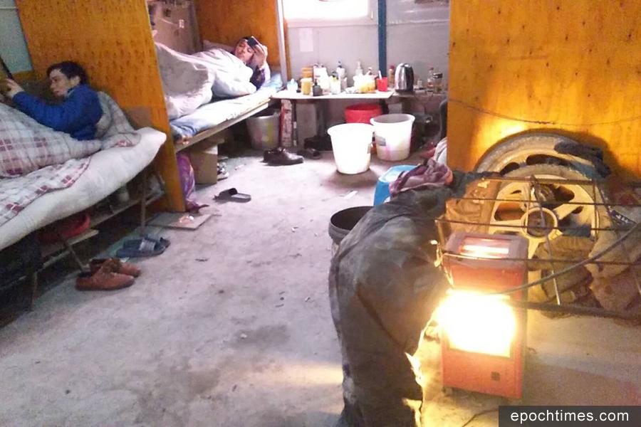 圖為農民工的宿舍。(受訪者提供)