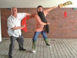 左為李桐春老師,右當代紅生葉復潤先生(白亞仕/大 紀元)