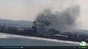 北韓邊境發生大火 大陸居民看見百米黑煙