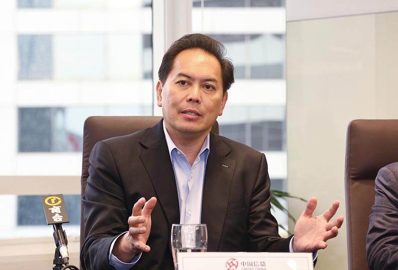 中國信貸副主席兼首席執行官彭耀傑表示,中國信貸將與BitFury在中國成立合營公司,研究如何應用區塊鏈技術。(余鋼/大紀元)