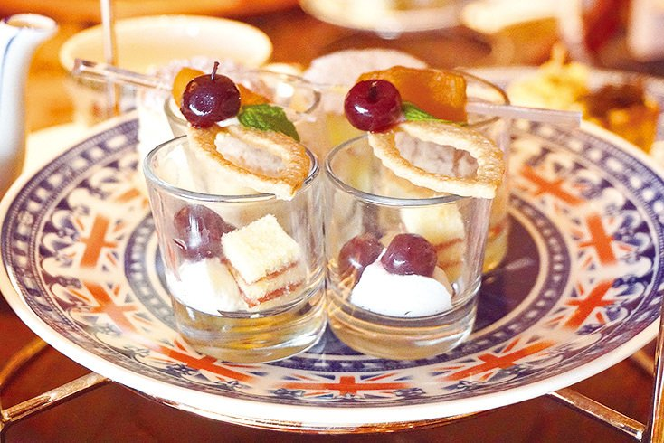 有酒香嘅Mini Sherry Trifle 。