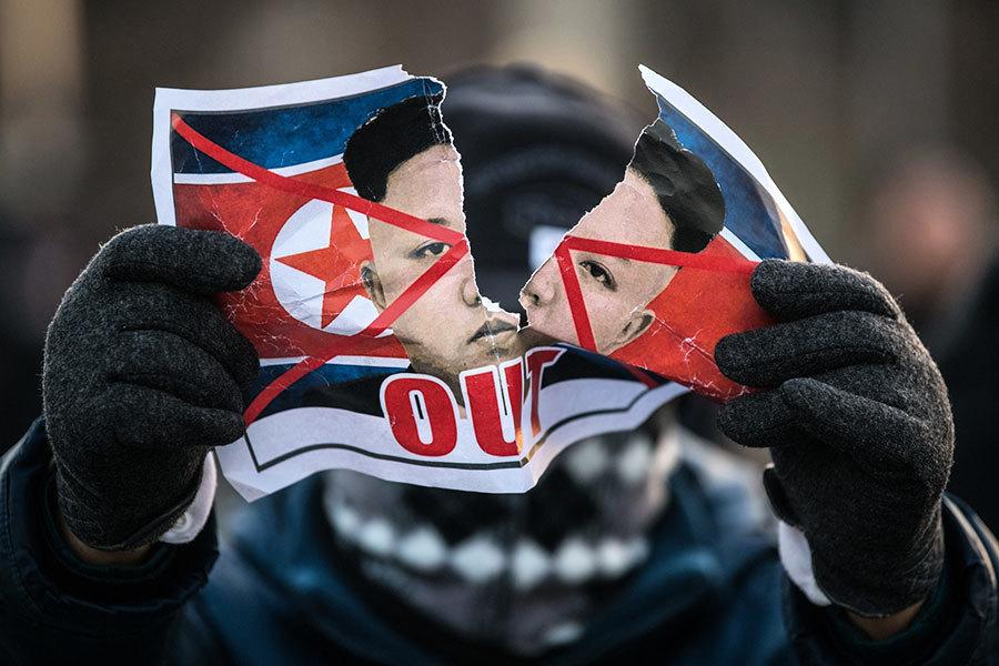 北韓參賽冬奧會引發多項爭議 韓民抗議不絕