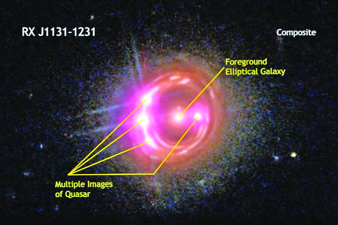 行星位於38 億光年外的RX J1131-1231 星系。(NASA)