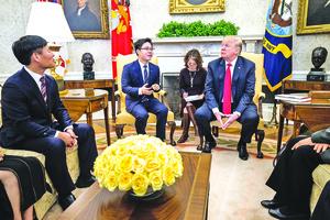 特朗普讓脫北者坐上國家元首座席