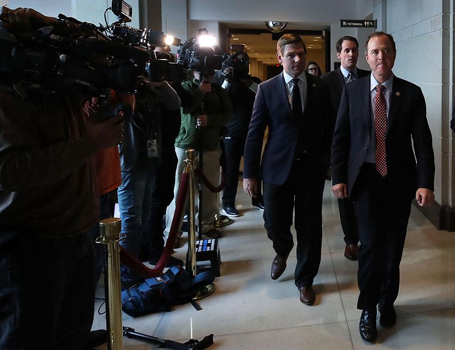 周一,美國眾議院情報委員會一致同意公開民主黨有關通俄門調查的備忘錄。(Mark Wilson/Getty Images)