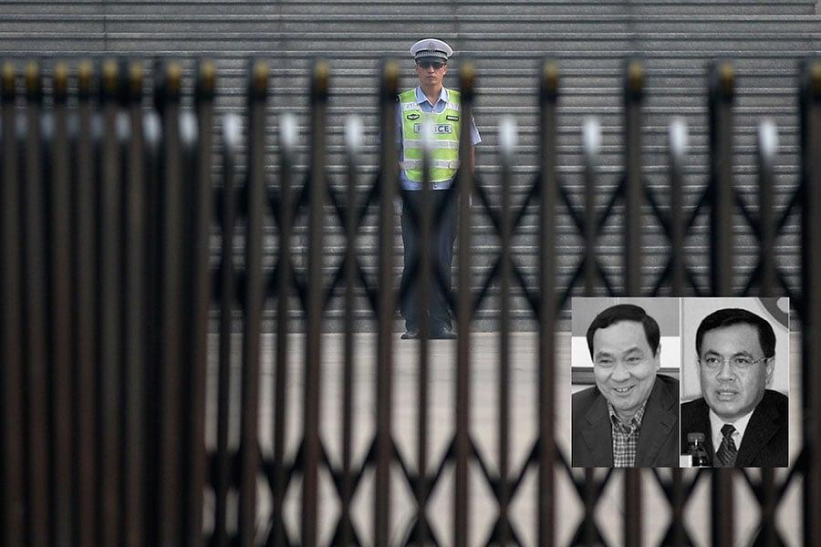 2月7日,吉林省質量技術監督局前局長葉志剛(左)和吉林糧食集團有限公司前董事長孟祥久(右)因「嚴重違紀問題」被官方立案審查。(Getty Images/大紀元合成)