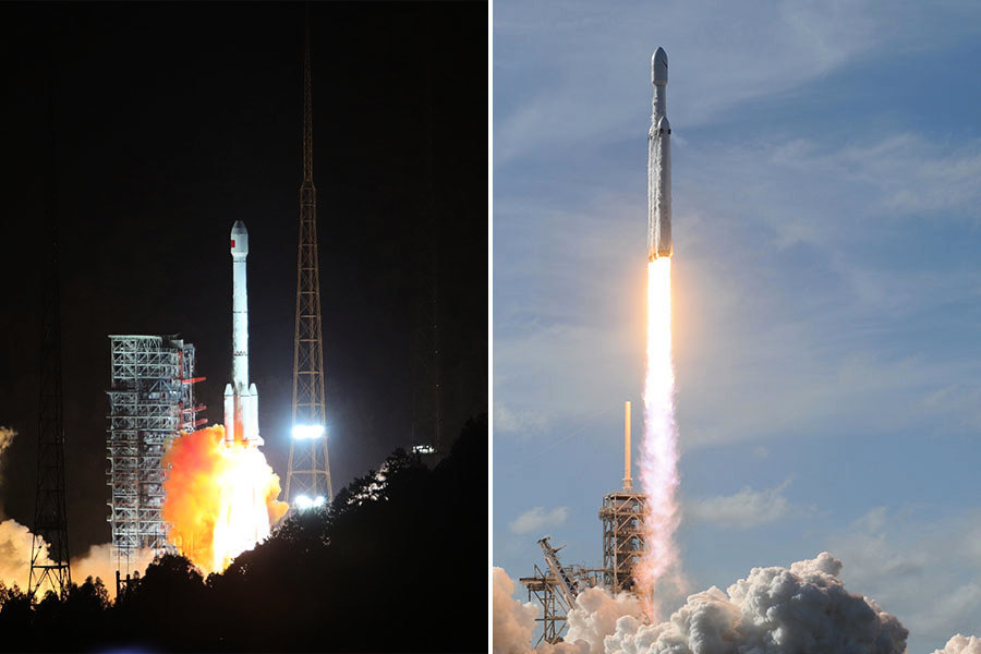 火箭發射技術 中共黨媒自曝和美國差距大