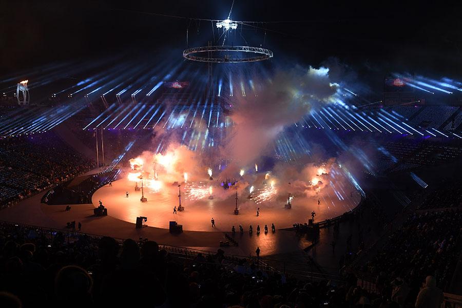 冬奧會開幕儀式現場。(Pool – Christof Stache/Getty Images)