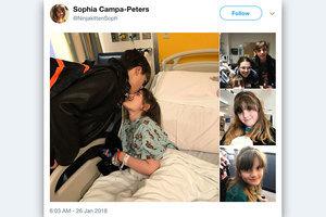 九歲女孩勇敢對抗罕見疾病 特朗普:她是英雄