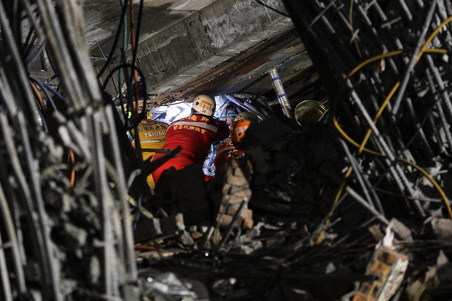 台灣花蓮震災逾72小時 進入人道救援