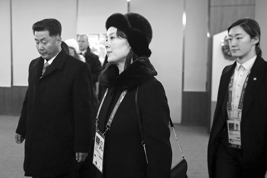 在周五(2月9日)的南韓平昌冬奧會開幕儀式上,金正恩的胞妹金與正成了世界媒體的關注點。(Patrick Semansky – Pool /Getty Images)